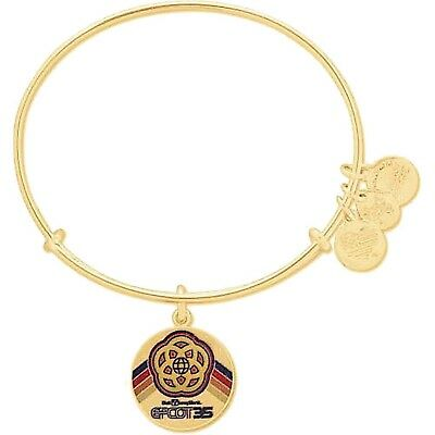 Alex and Ani Disney Parks Epcot 35th Anniversary Charm Bracelet (Gold)