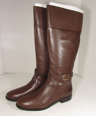 $350 Cole Haan Womens Catskills Tall Riding Boot Shoes, Chestnut, US 10.5