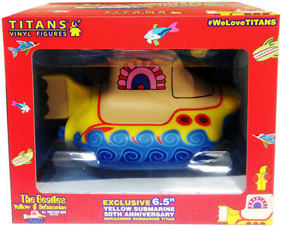 "Beatles U.k. Titans 6.5"" Broaching Vinyl Yellow Submarine Windowed Gift Boxed !"