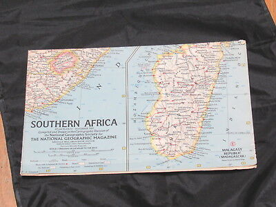 1962 National Geographic Map Southern Africa