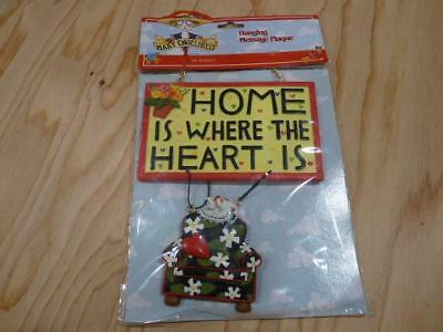 Mary Engelbreit Home Is Where The Heart Is Hanging Message Plaque NIP 1999