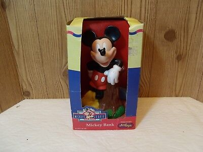 """Vintage Mickey Mouse Bank Item #17001 Hard Plastic """"Justoys""""  A1018 NV"""