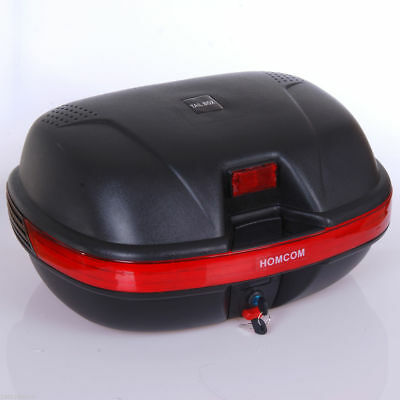 44L Motorcycle Top case Touring Trunk Sport Luggage w/ Key Black Colour