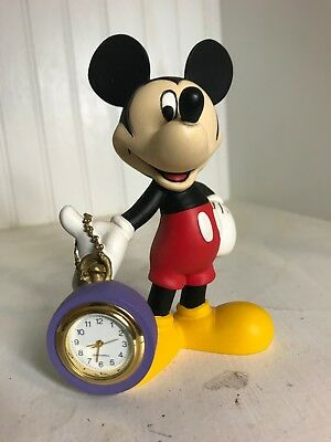 Mickey Mouse Ceramic Desk Clock from 1990's