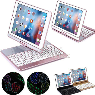 """AU 360° Swivel Smart Case Cover Bluetooth Keyboard For iPad 5th 6th 9.7"""" Air Pro"""
