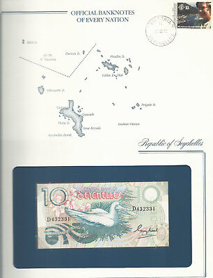 Banknotes of Every Nation Seychelles 1983 10 Rupees P-28 UNC prefix D