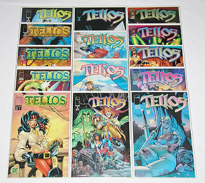 Tellos #1-10 Complete Set - #1 x 2 DF Exclusive Cover (COA) - Image (Lot of 17)