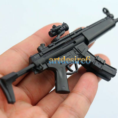 1/6 Soldier 4D Assembly Rifle Double Cartridge Gun Model MP5 Fit 12'' figure Toy