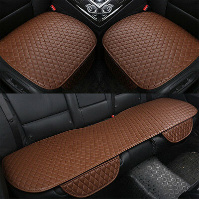 3PCS  Seat Covers Car Cushion PU Leather Universal Auto Interior Accessories
