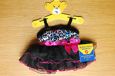 Build a Bear Workshop outfit Hello Kitty Leopard Dress black pink white blue