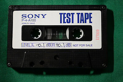Sony Azimuth Test Tape P4-A-100 10kHz New