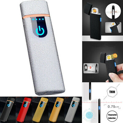 USB Windproof Flameless Rechargeable Electronic Charging Cigarette Lighter