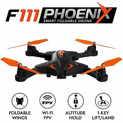 Force1 Foldable Drone with Camera Live Video 720p HD Altitude Hold and 1 Key RC