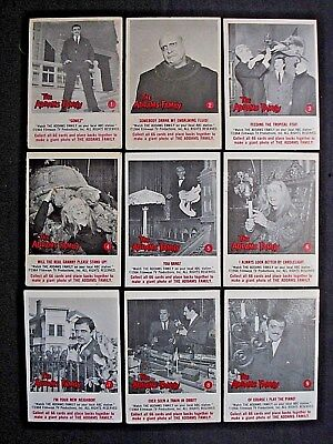 1964 Donruss *the Addams Family* Near Set 60/66 Ex/nm