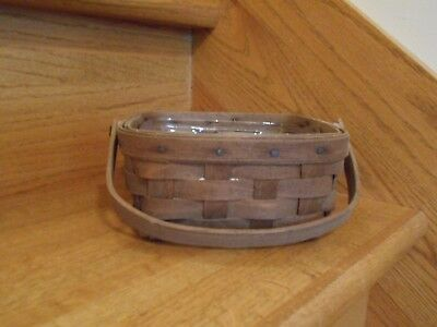 Longaberger Small Berry Basket Set 1979 dark stain sw hdl *shipping included!*