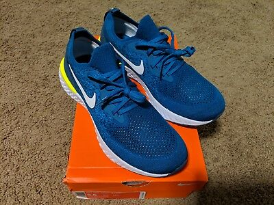 fd79f4bb2c99 norway nike epic react flyknit green abyss white blue force mens size 8.5  aq0067 302 c4ceb