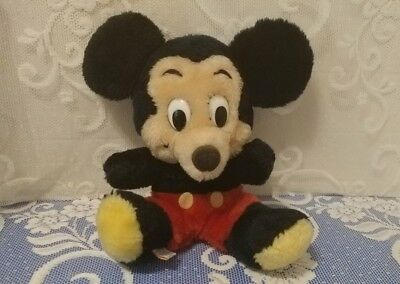 Vintage Plush Mickey Mouse Walt Disney Products Ground Nutshell Fill in GUC !