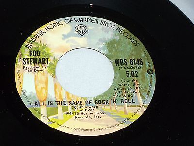 Rod Stewart: All In The Name of Rock 'n' Roll / Sailing [Unplayed Copy]