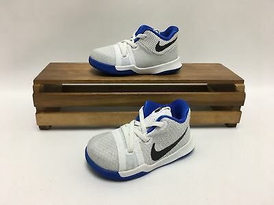 41f56398a09 Nike Kyrie Irving 3 (TD) Shoes White Cobalt Blue Black 869984-102 Toddler
