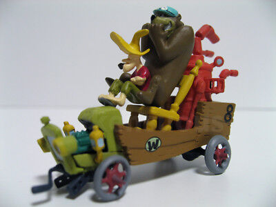 KONAMI Wacky Races the Arkansas Chuggabug 8 Lazy Luke and Blubber Bear figure