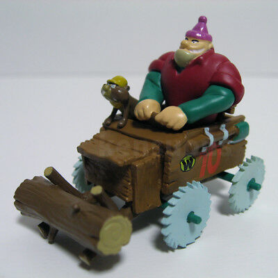 KONAMI Wacky Races the Buzz Wagon 10 scale model Rufus Ruffcut & Sawtooth figure