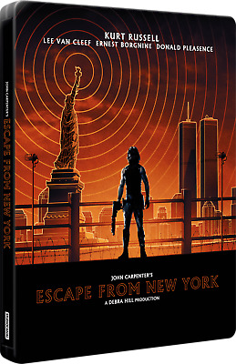 Escape From New York 4K OOP Import STEELBOOK UHD 4K+2x Blu-ray (3 disc set, NEW)