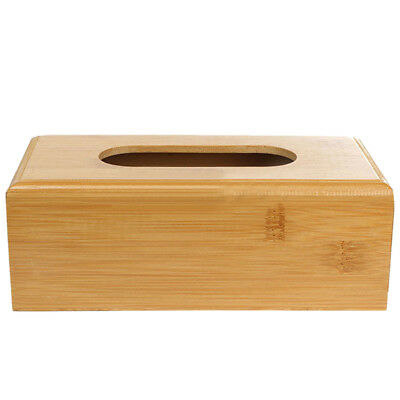 Natural Bamboo Tissue Paper Storage Box Case Cover Holder L