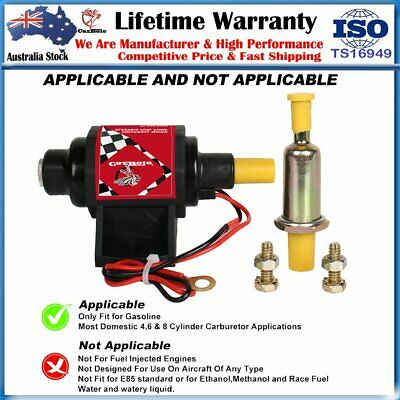 Universal Electric Fuel Pump 12v External Fuel Pump 2-3.5 PSI Low Pressure Fuel