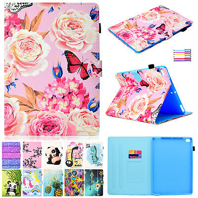 For iPad 9.7 2018 Pro 11 Air Case Smart Magnetic Leather Card Holder Stand Cover