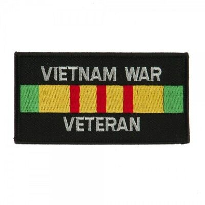 Military Embroidered Patch - Vietnam War Veteran Ribbon -- Iron-On -- New 3""