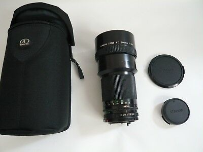 Canon FD 200mm F2.8 Telephoto Prime Lens. with Padded case