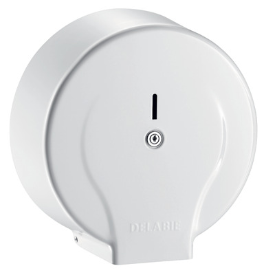 Delabie 400mm Anti Vandal Jumbo Toilet Roll Dispenser 2910 White
