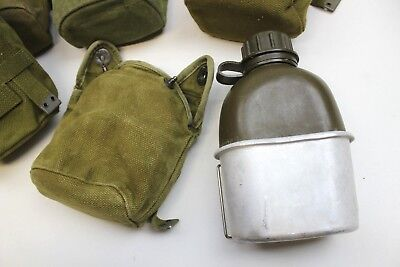 Danish Army Water Bottle + Cup & Webbing Pouch 2 Pint Genuine