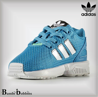 Adidas Originals ZX Flux Baby Trainers Boys Girls Size UK Infant 4 5 5.5 8 8.5