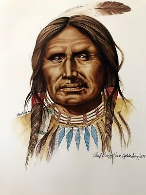 "Art Print of Chief Crazy Horse, Oglala Sioux, Native American Indian, 14"" x 17"""