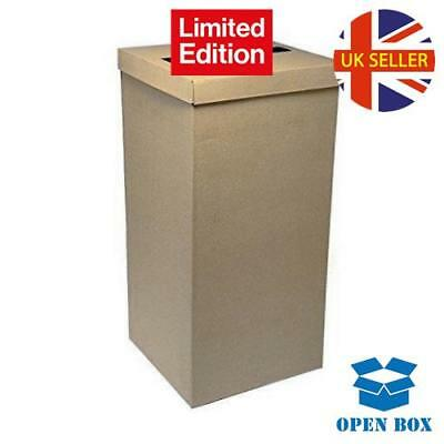 Club Green Silk Square Post Box with Lid, Brown, 250 x 250 x 500 mm