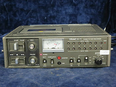 TEAC R-71 Cassette Data Recorder w/ Accessories
