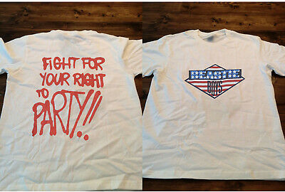 4b6fa21b3ca7 vintage 80s 90s beastie fight for your right to party boys reprin Shirt -  Gildan