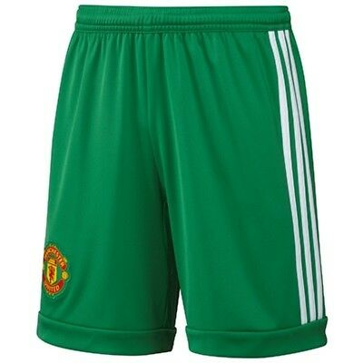 Manchester United Goalkeeper Shorts Adidas Official X Large Boys 176 cm Green