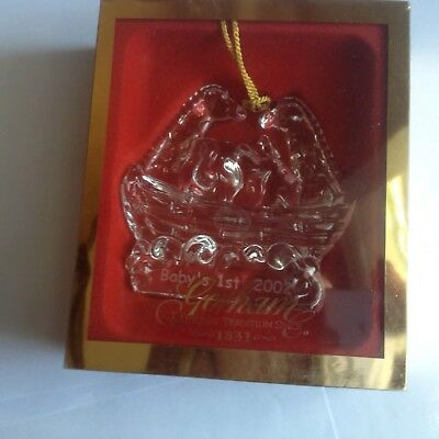Gorham 2002 Baby's First 1st Christmas Crystal Noah  Ornament Germany