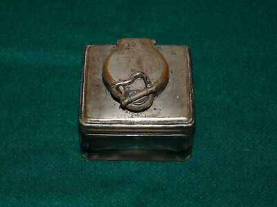 Old Writing Slope Inkwell - Original Condition - Working Screw Closure