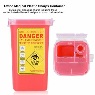 Kendall Sharps Container Biohazard Needle Disposal 1 Qt Size FB