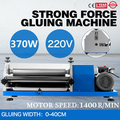 0-40cm Automatic Gluing Machine Glue Coating for Paper, Leather 220V