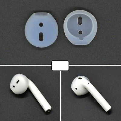 AMZER 2 PCS Silicone Ear Caps Earpads for Apple AirPods Earphone - Clear