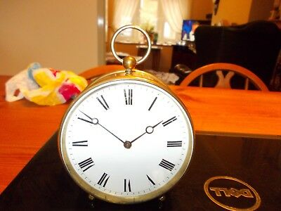 Lovely Antique French Brass Drum Clock