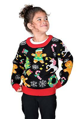 KESIS Children Gingerbread Unicorn Wreath Ugly Christmas Sweater
