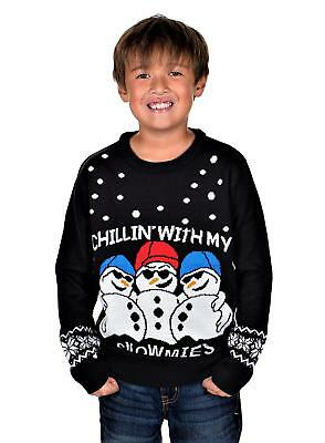 KESIS Children Chillin With Snowmies Ugly Christmas Sweater
