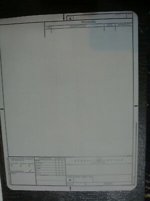 20x vintage General Electric GE technical drawing PROJECTION TRANSPARENCY sheets