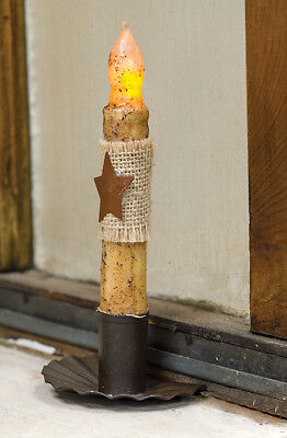 NEW!!! Primitive Country Farmhouse Vintage Metal Sill /Shelf Taper Candle Holder