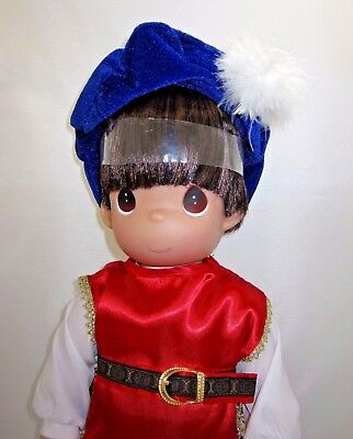 "New Precious Moments Large 18"" Snow White Prince Boy Doll Disney New with Tags"